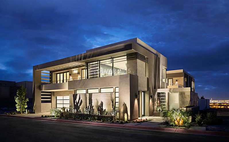 Modern homes las vegas for Modern new homes