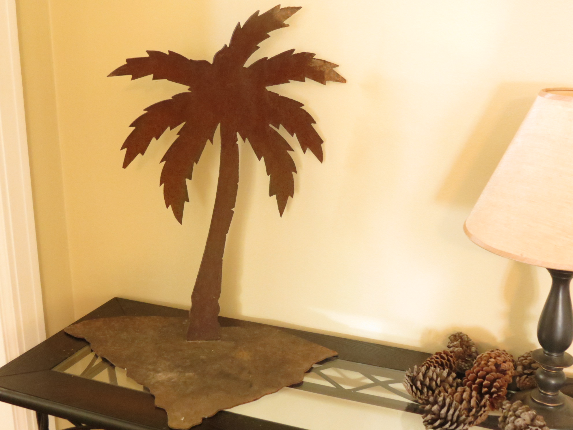 Carolina Farms & Estates >> Metal South Carolina Palm Tree Decor